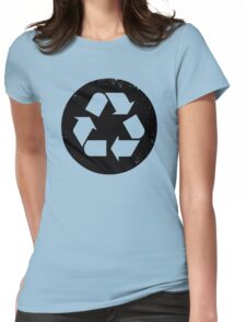 Recycle (black) Womens Fitted T-Shirt