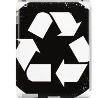 Recycle (black) iPad Case/Skin