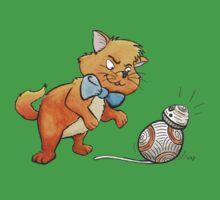 CAT CHASING BB8 Kids Tee