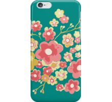 Painterly Flowers, green. iPhone Case/Skin