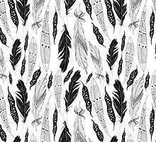 graphic pattern feathers by Tanor