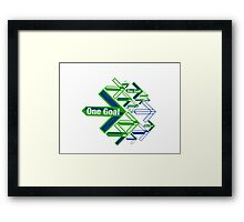 One Goal Framed Print