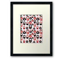 funny pattern with dolls Framed Print