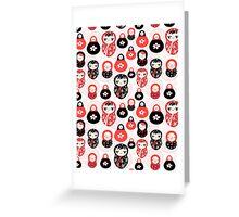funny pattern with dolls Greeting Card