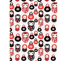 funny pattern with dolls Photographic Print