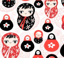 funny pattern with dolls Sticker