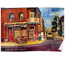 CANADIAN PAINTINGS RUE FAIRMOUNT MONTREAL STREETS  Poster