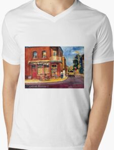 CANADIAN PAINTINGS RUE FAIRMOUNT MONTREAL STREETS  Mens V-Neck T-Shirt
