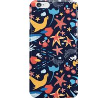 pattern with stingray and fish iPhone Case/Skin
