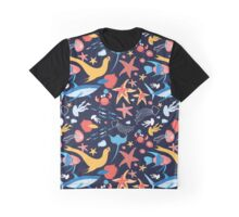 pattern with stingray and fish Graphic T-Shirt