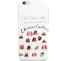 A selection of utterly delicious chocolates iPhone Case/Skin