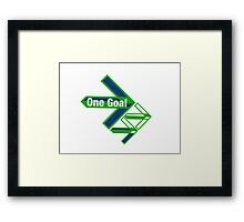 One Goal 2 Framed Print
