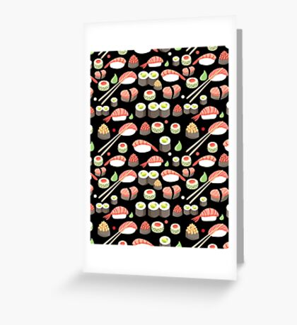 delicious Japanese sushi   Greeting Card