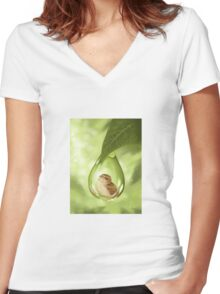 Under protection Women's Fitted V-Neck T-Shirt