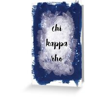 Chi Kappa Rho Greeting Card