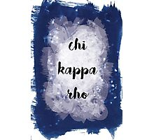 Chi Kappa Rho Photographic Print