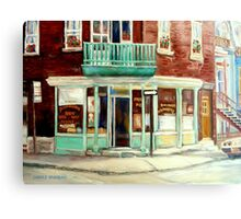 VINTAGE BAKERY MONTREAL CORNER STORE CANADIAN ART Canvas Print