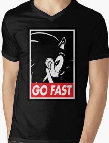 GO FAST Mens V-Neck T-Shirt