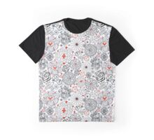 Graphic floral pattern with birds in love Graphic T-Shirt