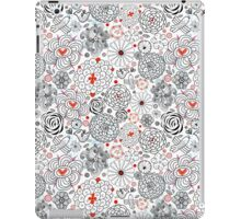 Graphic floral pattern with birds in love iPad Case/Skin