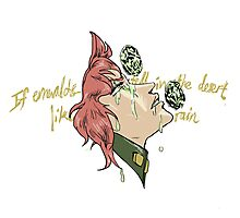 If Emeralds Fell in the Desert - Kakyoin (Color) Photographic Print