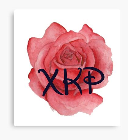 Chi Kappa Rho Rose Canvas Print
