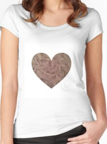 Mink Fur Heart  Women's Fitted Scoop T-Shirt