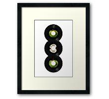45 Spin-Fab Four Framed Print