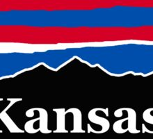 Kansas Red White and Blue Sticker