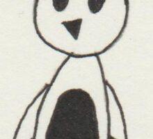 Inverse Penguin Sticker