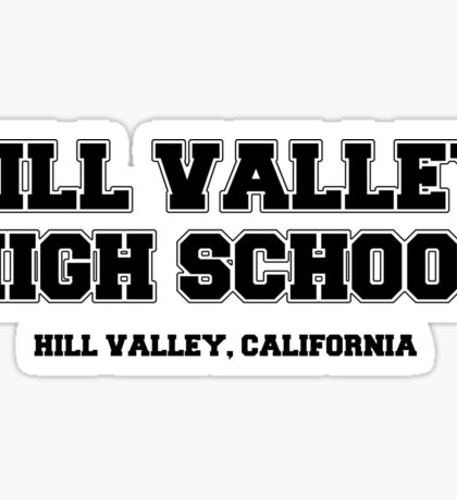 Hill Valley High School Sticker