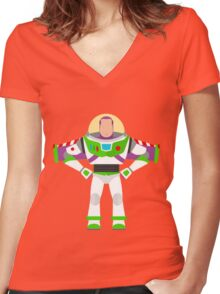 Buzz Vector Women's Fitted V-Neck T-Shirt