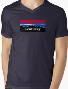 Kentucky Red White and Blue Mens V-Neck T-Shirt