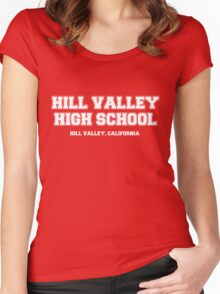 Hill Valley High School Women's Fitted Scoop T-Shirt