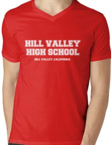 Hill Valley High School Mens V-Neck T-Shirt