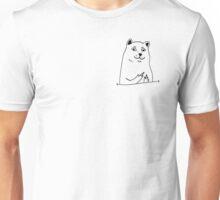 Middle fingers dog - version 1 - black Unisex T-Shirt