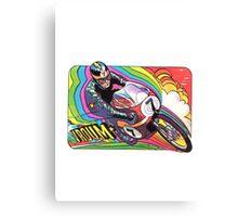 Vintage Motorcycle Motor Vroom decal 70's wild Canvas Print