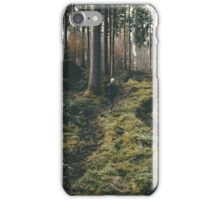 Boy walking through mystic forest landscape photography iPhone Case/Skin