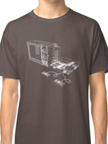 NES and TV Wireframe Classic T-Shirt