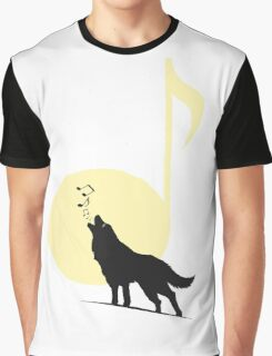 A song of Wolf and Moon Graphic T-Shirt