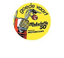 Vintage moped Mobylette 50 motobecane Photographic Print
