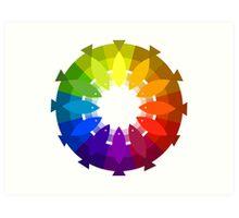 A Very Fishy Color Wheel Art Print