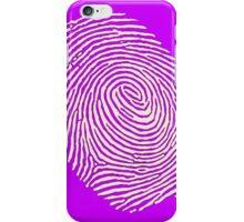 Finger print - touch finger  iPhone Case/Skin