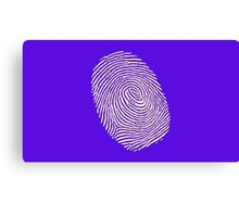 Finger print - touch finger  Canvas Print