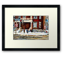 MONTREAL WINTER WALK AFTER THE SNOWSTORM Framed Print