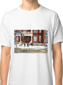MONTREAL WINTER WALK AFTER THE SNOWSTORM Classic T-Shirt
