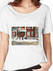 MONTREAL WINTER WALK AFTER THE SNOWSTORM Women's Relaxed Fit T-Shirt