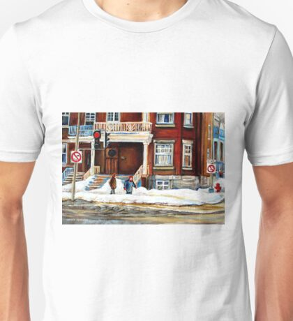 MONTREAL WINTER WALK AFTER THE SNOWSTORM Unisex T-Shirt
