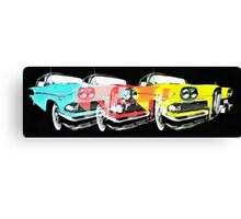 Edsel Triple Threat Pop Art Canvas Print