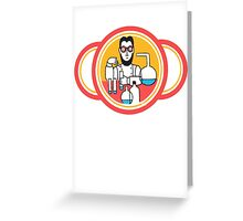 Vintage mad LSD professor Scientist Greeting Card